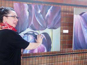 Monique Martin at the Tulip Festival in Ottawa