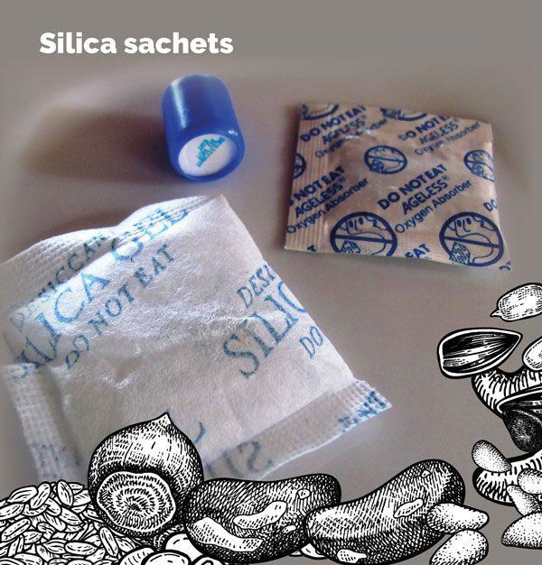 Silica sachets