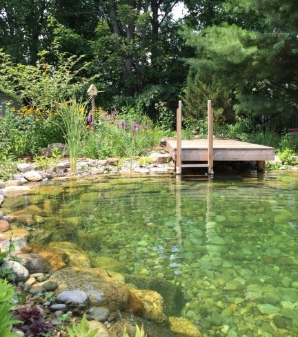 Rock Bottom Natural Pool - Natural Tumble or Cut Stone Look